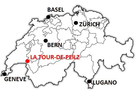 Karte La Tour-de-Peilz